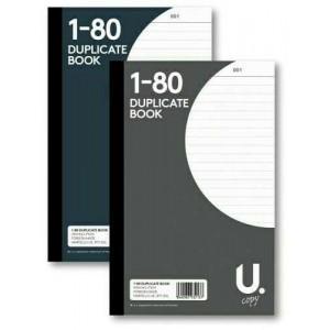 """DUPLICATE BOOKS LARGE 8"""" ORDER RECEIPT SHEET 1-80"""