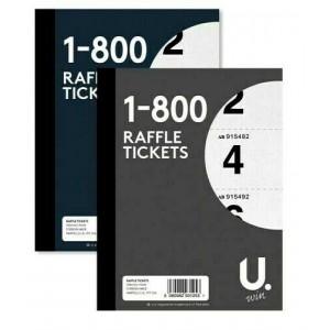 RAFFLE TICKETS CLOAKROOM BOOK 1-800 TAMBOLA DRAW