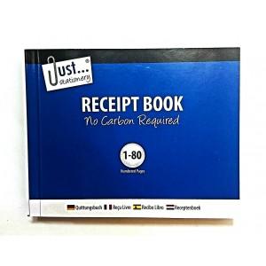 DUPLICATE RECEIPT BOOKS SMALL 1-80 CARBON LESS
