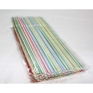 100 COLOURFUL DRINKING STRAWS FOR PARTIES FUNCTIONS WEDDINGS